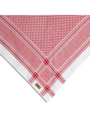 شماغ    ماريو فالنتينو   100% قطن   احمر / ابيض  (موديل جديد)  لوجو  بنى  مقاس 60