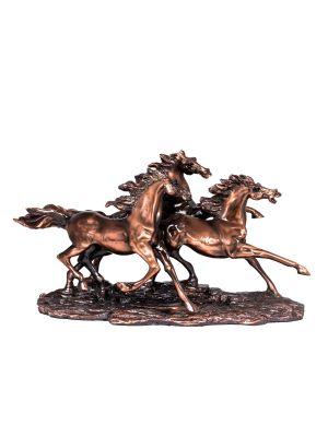مجسم مجموعه  ثلاثه  احصنه  ريزن  بعرض 35 سم  *19 سم ارتفاع
