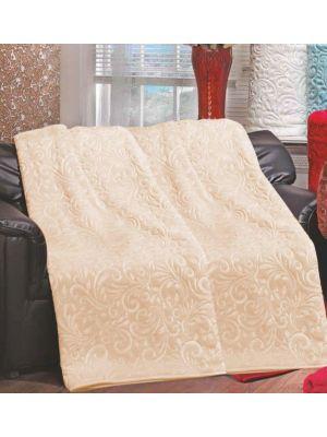 بطانية  مينك  صناعة تركية   مقاس 220*240 بلون  الكابتشينو   (بيج )