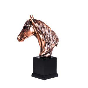مجسم راس حصان  من  الريزن  عرض 17.5 سم  *ارتفاع  35 سم
